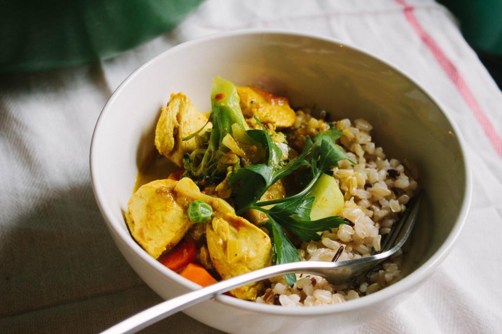 weeknight chicken curry // michelle arbus