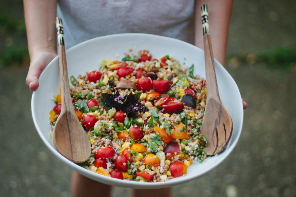 farro, corn & tomato salad