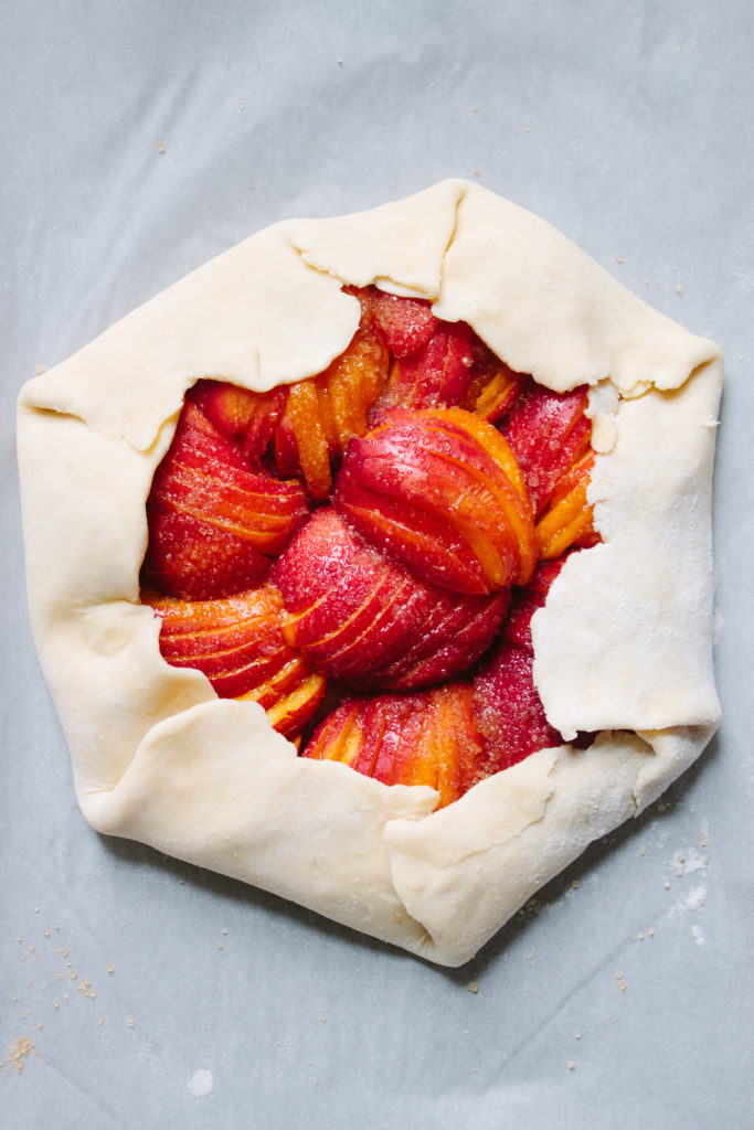 nectarine galette | michellearbus.com